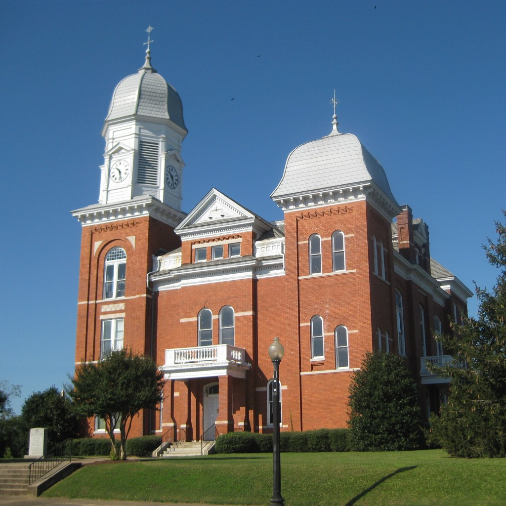 Eastern face of the 1902 courthouse and clock tower in Taliaferro County, Georgia. Photo Credit: TampAGS, for AGS Media